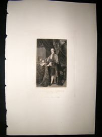 After Joshua Reynolds C1830 Folio Mezzotint. Charles Townshend